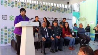 Hoy fue instalado el módulo de Sí al desarme, sí a la paz en Iztapalapa